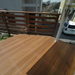 変形ウリンデッキ+庭フェンス2