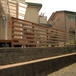 変形ウリンデッキ+庭フェンス3