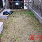 庭全体のデッキで雑草処理から解放1