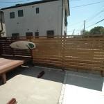 フェンスの追加施工1