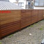 追加フェンス施工3
