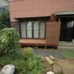 庭ウリンデッキと目隠しフェンス3